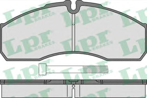 05P1462 Колодки тормозные MERCEDES SPRINTER 616 01-/IVECO DAILY 65 01-06 передние