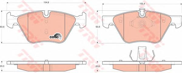 GDB1559 Колодки тормозные BMW E90/E60 1.8-3.0 03- передние