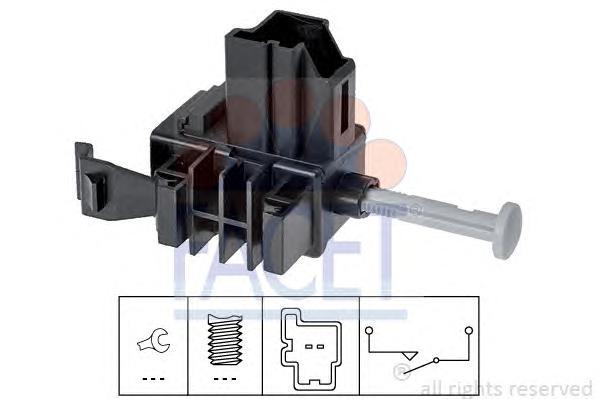 71271 Датчик стоп-сигнала FORD: GALAXY 1.4-2.2TDCI 04-, FOCUS 1.4-2.2TDCI 04-, FIESTA 1.4-2.2TDCI 04-, C-MAX 1.4-2.2TDCI 04-