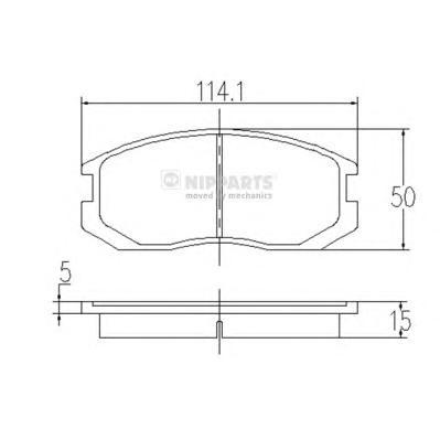 J3605032 Колодки тормозные MITSUBISHI COLT/LANCER 1.3-1.6 88-03 передние