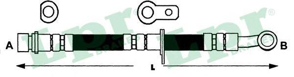 6T47489 Шланг тормозной HONDA CIVIC 91-01 задний левый