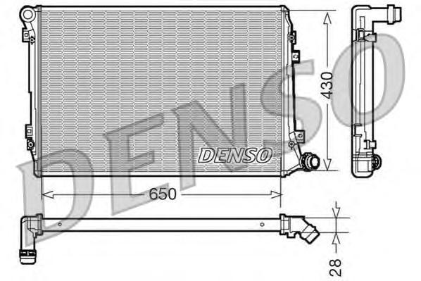 DRM32037 Радиатор системы охлаждения VW: EOS (1F7, 1F8) 2.0 TDI 06 - , JETTA III (1K2) 1.9 TDI/2.0 TDI 05 - , PASSAT (3C2) 2.0 T