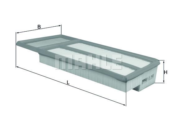 LX3465 Фильтр воздушный ALFA ROMEO MITO/FIAT 500/DOBLO/PANDA 1.3D 10-