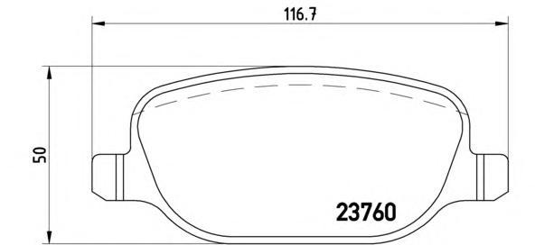 P23089 Колодки тормозные ALFA ROMEO 159 05-11/LANCIA THESIS 02-09 задние