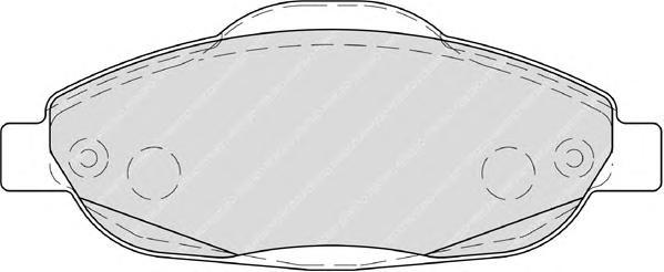 FDB4003 Колодки тормозные PEUGEOT 308 07-/3008 09- передние