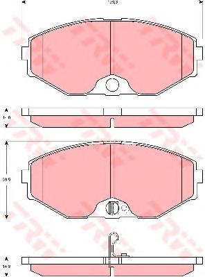 GDB3273 Колодки тормозные NISSAN MAXIMA QX (A33) 2.0-3.0 00- передние