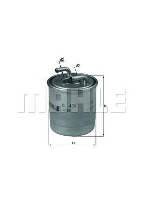KL490D Фильтр топливный MB SPRINTER 906 OM651/642 09-