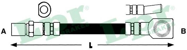 6T46537 Шланг торм М10х1х215mm пер KADETT D (F07208)