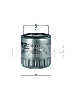 KC631D Фильтр топливный MB/SSANGYONG DIESEL