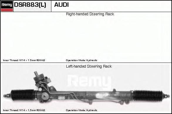 DSR883L Рейка рулевая AUDI A8 2.5TD-6.0 94-04 с ГУР +servotronic