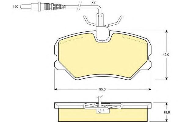 6107931 Колодки тормозные PEUGEOT 306 93-01/405 92-96/IKCO SAMAND передние