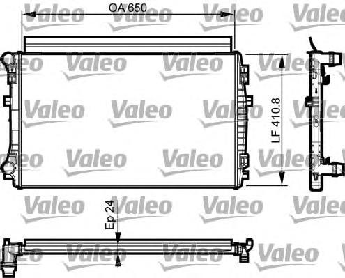 735558 Радиатор системы охлаждения AUDI: A3 1.2TFSI 12-