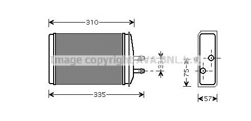 SA6016 Радиатор отопителя SKODA FELICIA 1.3-1.6 94-01