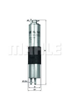 KL149 Фильтр топливный BMW E46 316i-330i 06/01-