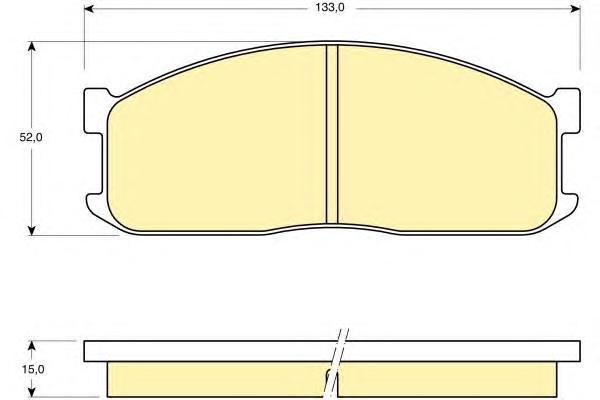 6109839 Колодки тормозные FORD ECONOVAN 86-92/KIA BESTA 96-/MAZDA E-SERIE 80-94 передние
