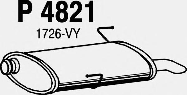 p4821 Глушитель выхлопных газов конечный