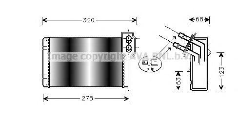 RTA6099 Радиатор отопителя RENAULT KANGOO 1.2/1.4/1.5D/1.9D 97-