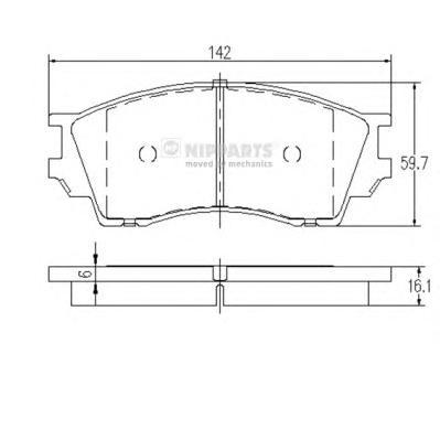 J3603040 Колодки тормозные MAZDA XEDOS 9 93-01 передние