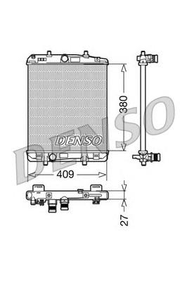 DRM21024 Радиатор системы охлаждения CITROEN: C2 (JM) 1.4 HDi 03 - , C3 (FC) 1.4 HDi 02 - , C3 Pluriel (HB) 1.4 HDi 03 -  PEUGEO