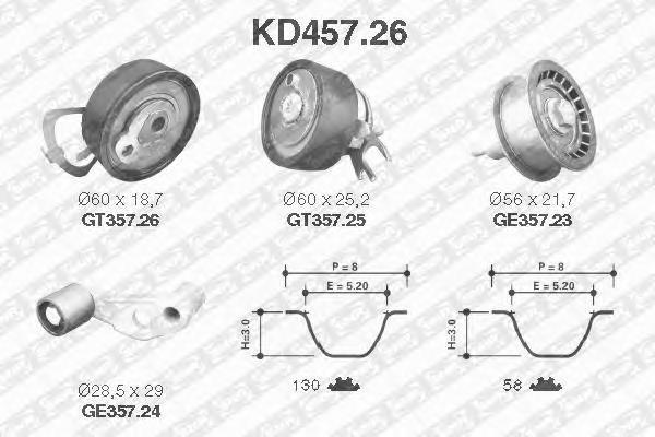 KD45726 Комплект ремня ГРМ SKODA OCTAVIA/FABIA/VW GOLF 4/5 1.4/1.6