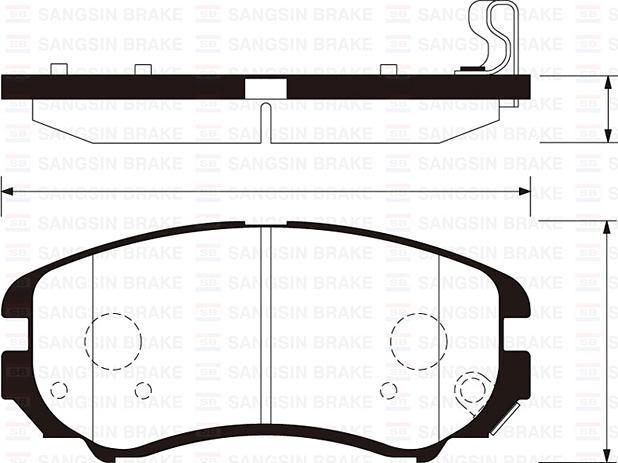 SP1202 Колодки тормозные Elantra (2006 -) передние (к-т 4 шт.)