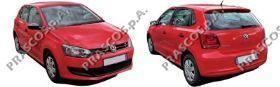 VW0237124 Зеркало в сборе механическое левое, грунтованное / VW Polo 10~12
