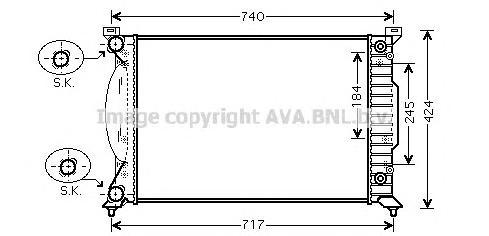 AI2241 Радиатор AUDI A4 III 2.0 TFSi АКПП11/04-