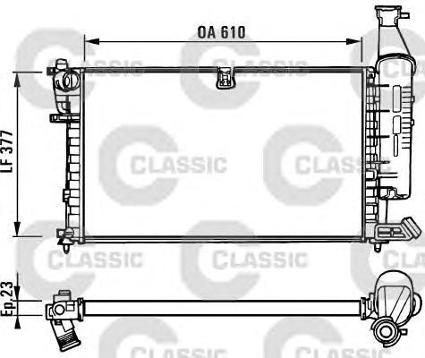 231296 Радиатор системы охлаждения CITROEN: BERLINGO (MF) 1.1 i (MFHDZ)/1.4 i (MFKFX)/1.8 i (MFLFX)/1.8 i 4WD (MFLFX) 96 - , BER