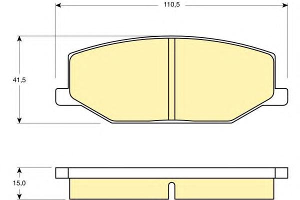 6103839 Колодки тормозные SUZUKI JIMNY/SAMURAI 88- передние