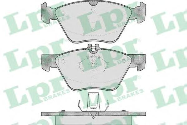 05P406 Колодки тормозные MERCEDES W210/211/208 200-320 передние