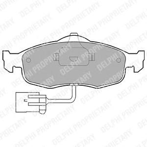 LP781 Колодки тормозные FORD MONDEO 93-00/SCORPIOO 86-94 передние
