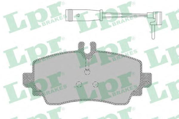 05P1387 Колодки тормозные MERCEDES VANEO 1.6-1.9 02- передние