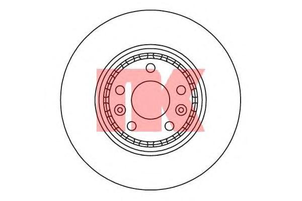 203969 Диск тормозной RENAULT LAGUNA III 08-/GRAND SCENIC 09- передний вент.D=320мм.