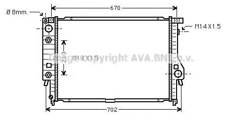 BW2092 Радиатор BMW E32/E34 3.0/3.5 88-96