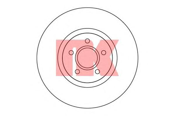 204850 Диск тормозной передний / FORD Focus-II 2,5 ST ;VOLVO C-70/S-40/V-50 (25-320) 04~