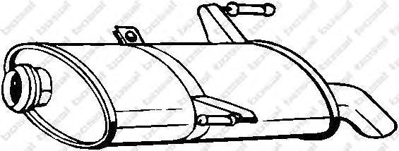 190875 Глушитель задняя часть
