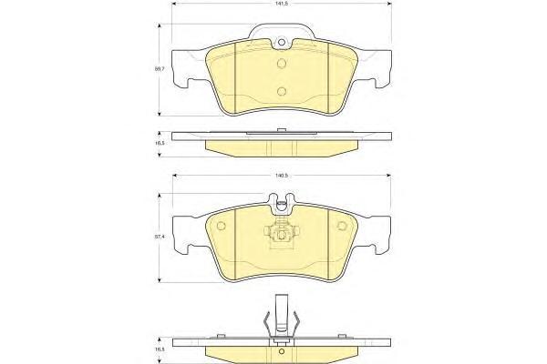 6115462 Колодки тормозные MERCEDES-BENZ W211/W212/W220/W221/R230 задние