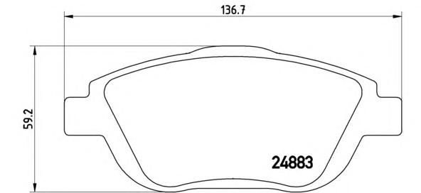 P61103 К-т торм. колодок Fr PSA C3, DS3 09-, 2008 13-