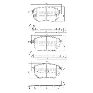 J3601092 Колодки тормозные INFINITI FX35/45 03-/NISSAN MURANO 05- передние
