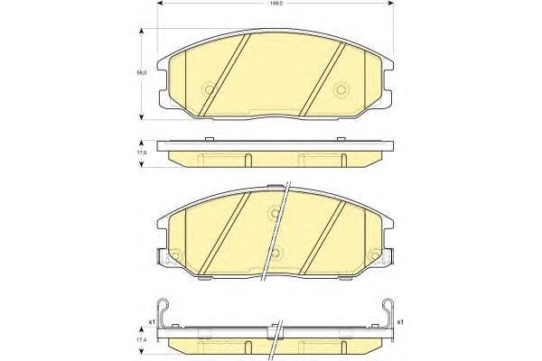 6132979 Колодки тормозные HYUNDAI H-1/SANTA FE/TRAJET/SSANGYONG REXTON 01- передние