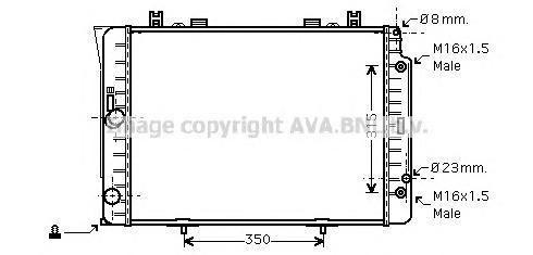 MSA2151 Радиатор системы охлаждения MERCEDES-BENZ: S-CLASS (W140) 300 SE 2.8 (140.028)/300 SE,SEL/S320 (140.032, 140.033)/S 280
