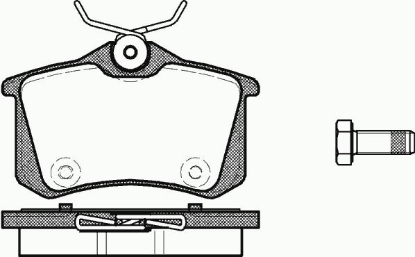8E0698451L Колодки тормозные дисковые задние / AUDI A4, A6 04 ~