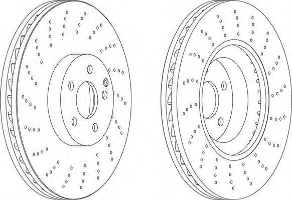 DDF1637 Диск тормозной MERCEDES W211/C215/R230 55/65 AMG передний вент.D=360мм.