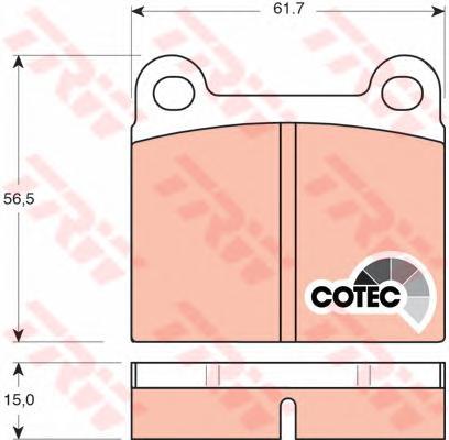GDB101 Колодки тормозные MERCEDES W116/W123/W126 задние