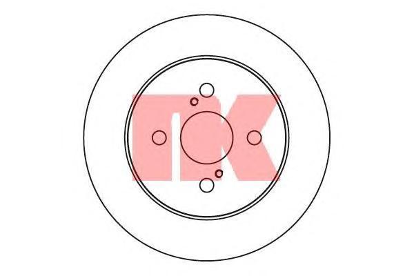 2045109 Диск тормозной TOYOTA YARIS 06-/IQ 09- задний D=259мм.