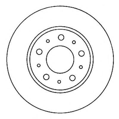 561866J Диск тормозной VOLVO 850 91-96/940 90-98/S70/V70 96-00 передний D=290мм.
