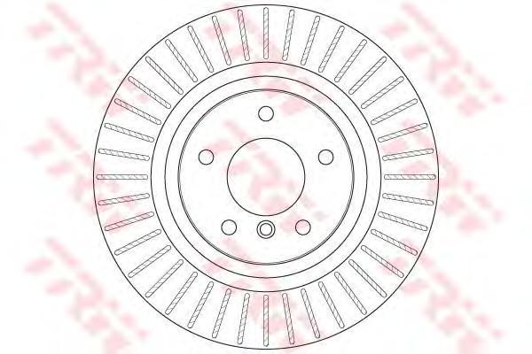 DF6352S Диск тормозной BMW X3 F25 10- задний вент.D=330мм