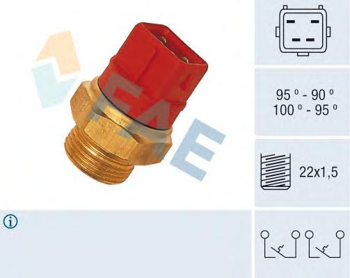 37960 Термовыключатель вентилятора Ford