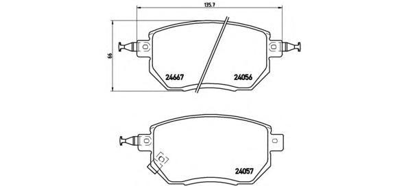 P56051 Колодки тормозные INFINITI FX35/45 03-/NISSAN MURANO 05- передние