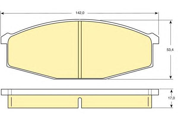 6107479 Колодки тормозные NISSAN PATROL 2.8-3.2 78-91/TERRANO 2.4-2.7 89-02 передние